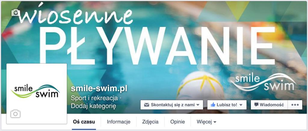 Szkoła pływania Smile-Swim na Facebooku