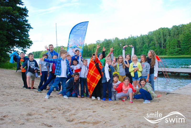 Obóz sportowy - zdjęcie grupowe