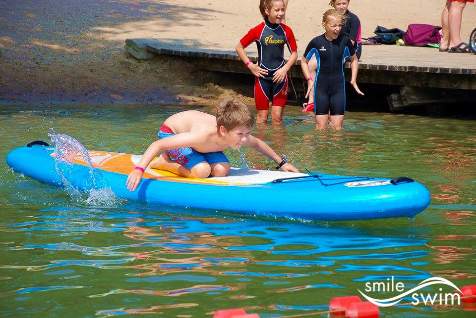 nauka pływania na SUPie