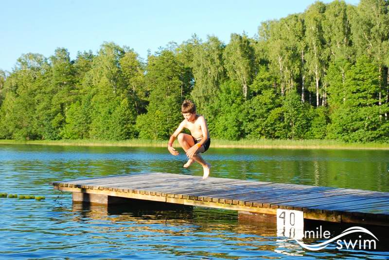 Obóz wodny - skok do wody