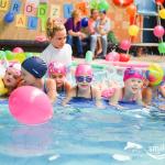 Urodziny dziecka na basenie - wyścigi