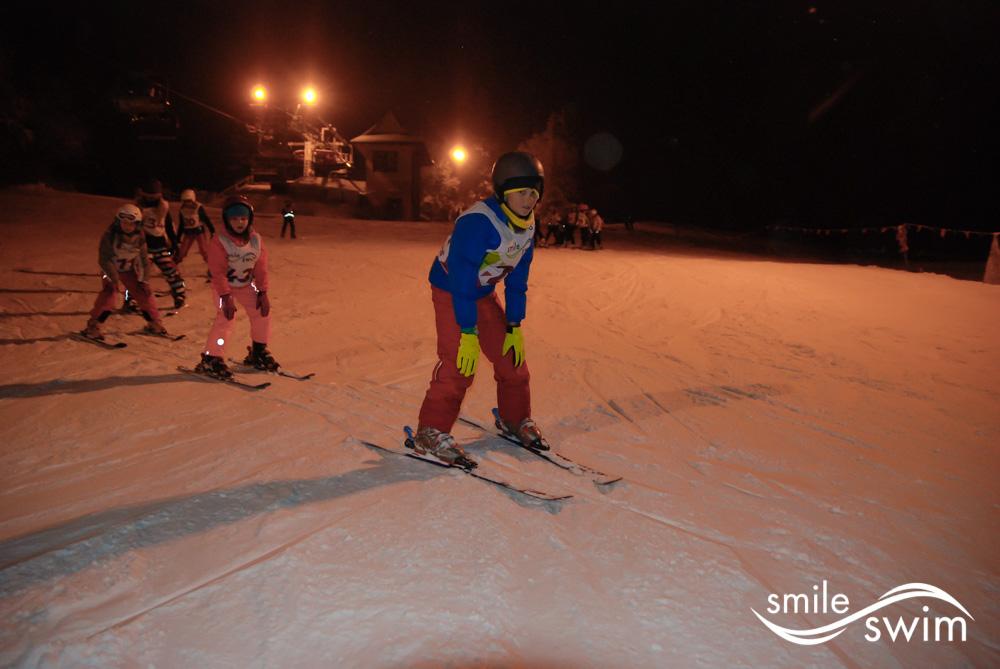 Wieczorne zjazdy na nartach