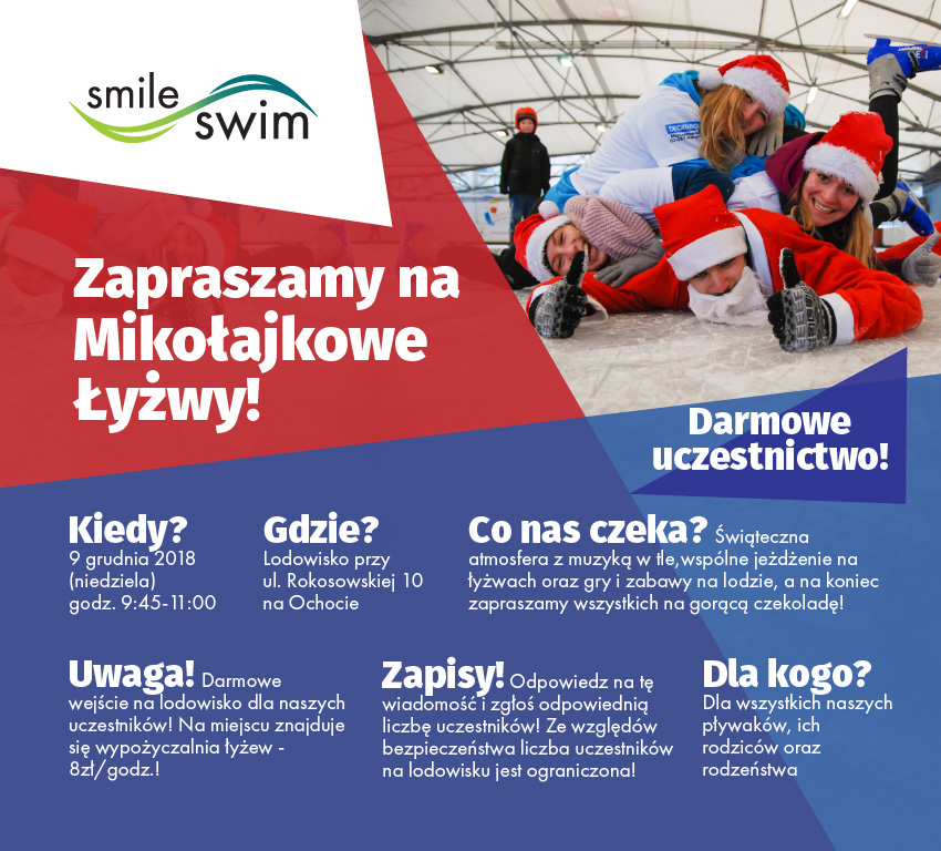 Mikołajkowe łyżwy ze Smile-Swim 2019
